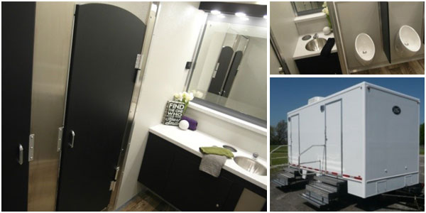 Commercial Office Building Restroom Trailer Rentals For Employees in Florida.